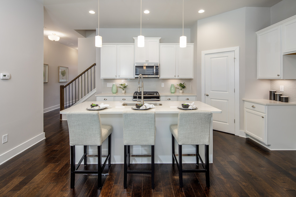 Gourmet chef's kitchen in new Sandy Springs townhomes